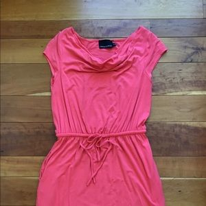 Beautiful coral Cynthia Rowley scoop neck dress